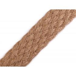 Sangle tressee jute naturelle 35mm / Sangles en coton bandoulières anses de sac, ceintures, cabas, besaces