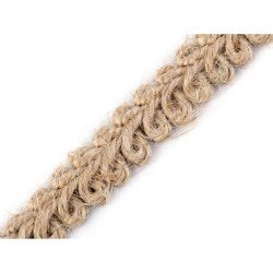 Galon tresse jute soutache 11 mm