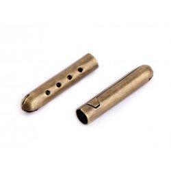 2 embouts de corde tube métal 4mm, stop cordon, finition cordelette