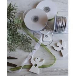 Rameau givré artificiel 49cm / Décoration Noël, couronne de l'Avent