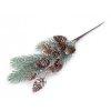 Branche de sapin artificielle avec pommes de pin 33cm / Décoration Noël, couronne de l'Avent