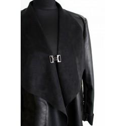 Bouton brandebourg métal/ argent ou noir / crochet boucle agrafe de fermeture pour veste, gilet, sac, maroquinerie