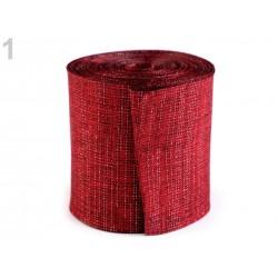 Large ruban métallique lurex 60mm / Ruban paquet cadeau, ruban Noël, ruban couronne Avent
