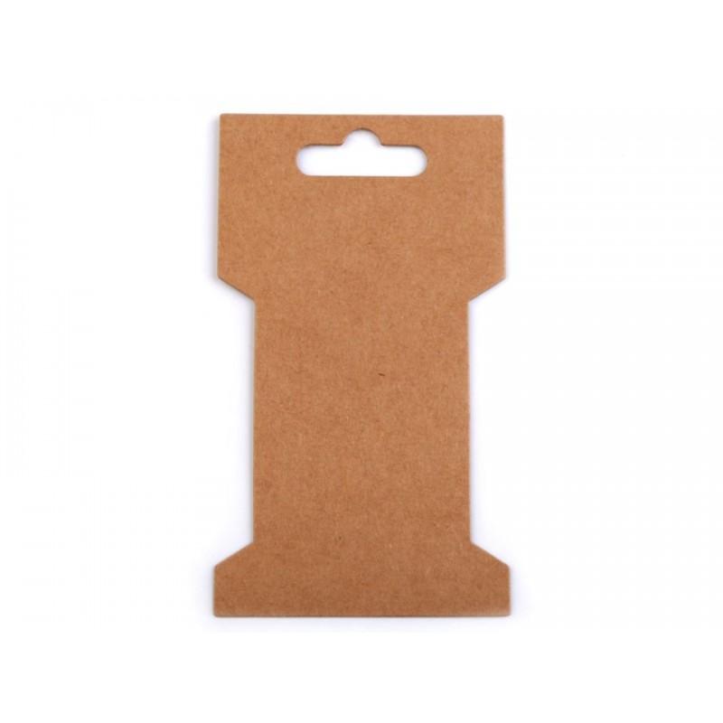 10 cartonnettes a rubans 7x11 cm / Support fils ou rubans, cartes de présentation, cartonnettes