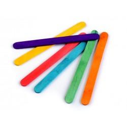 50 Spatules couleurs en bois pour loisirs créatifs 1 x 11 cm