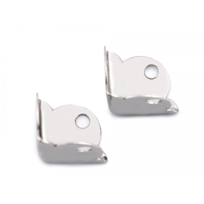 4 coins en métal argent 15x15x15mm pour protection angles