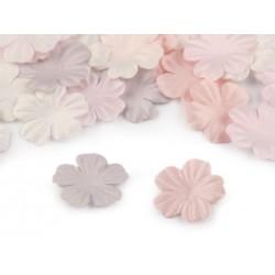 5 pétales ciselées en satin 5cm / Nombreux coloris / Création de fleurs