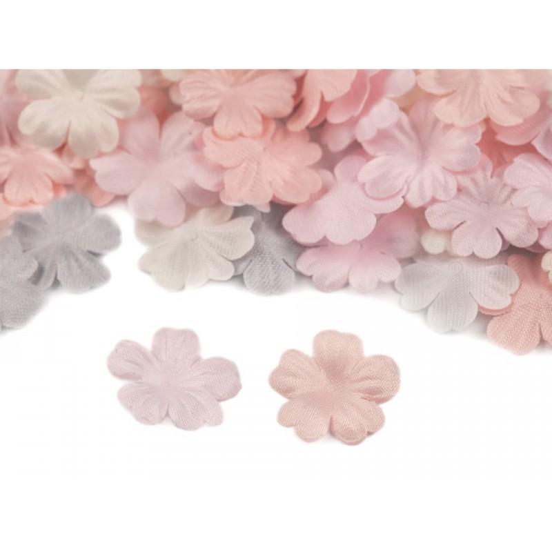 10 pétales ciselées en satin 14mm/ Nombreux coloris / Création de fleurs