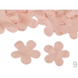 10 pétales ciselées en satin 37mm/Nombreux coloris / Création de fleurs