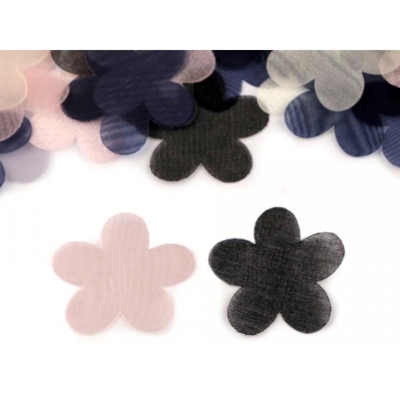 10 pétales fleurs organza 37mm/Nombreux coloris / Création de fleurs