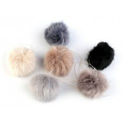 Pompon fausse fourrure 6-8 cm / Nombreux coloris /