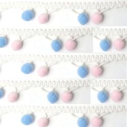 Guirlande de pompons pastels / Décoration bébé, pompons multicolores