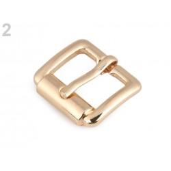 Boucle de ceinture métal 18mm / or ou argent