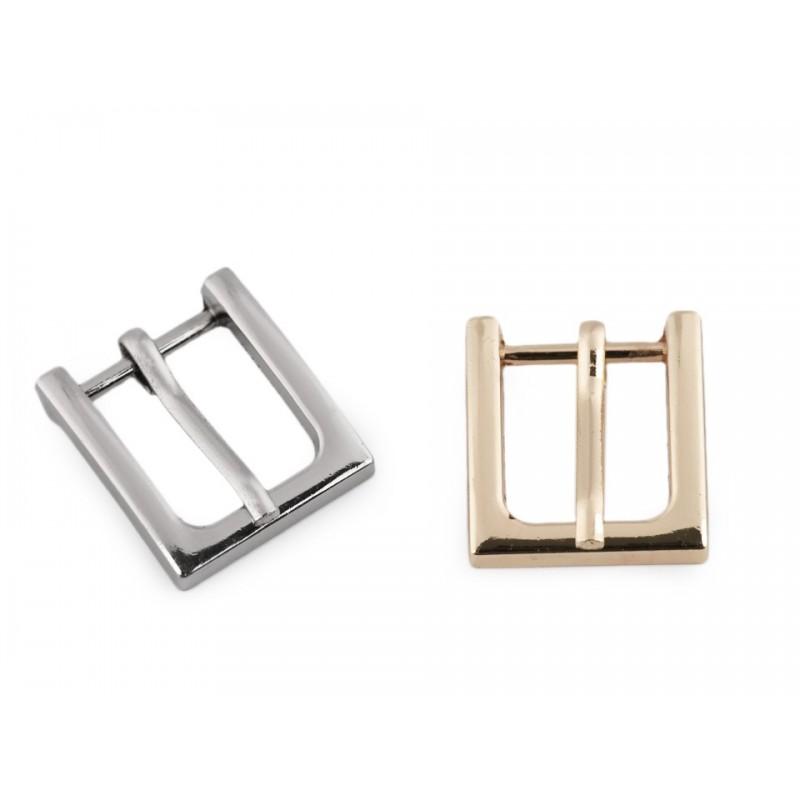 Boucle de ceinture métal 15mm / or ou argent