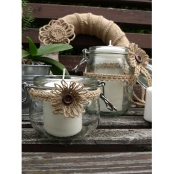 Galon tressé jute soutache 12mm / corde jute naturelle tressée, soutache corde, décoration mariage rustique, tresse corde jute