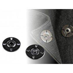 2 boutons pressions design en métal noir à coudre 21 mm / bouton pression, boutons à coudre