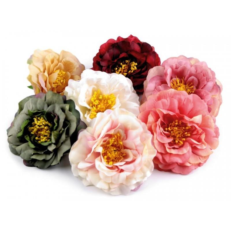 Grosse fleur tissu 10cm / Nombreux coloris / Fleur avec subtils dégradés,  pour pince cheveux
