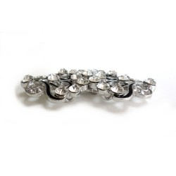 Fermeture agrafe en cristal / crochet clip boucle strass, agrafe en métal, fermoir crochet, fermoir à clipser, bouton cristal