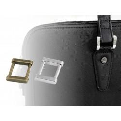 4 boucles plates métal 15mm  / argent, bronze / Boucles maroquinerie, anses de sac, boucles pour bretelles vêtement, boucles pou
