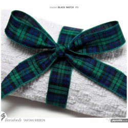 Ruban tartan écossais Black Watch / Toutes largeurs / Ruban écossais, ruban à carreaux, ruban plaid