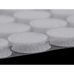 60 pastilles velcro rondes 15mm /blanc, noir, beige, gris / Scratch velcro, pastilles auto-agrippantes, pastilles scratch