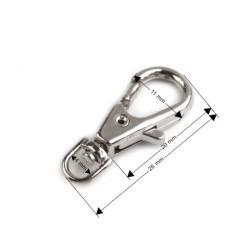 4 petits mousquetons pivotants / métal argent ou bronze / attaches clips crochets porte-clés fermoirs accroche métal