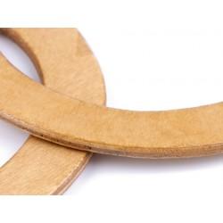 2 Anses de sac en bois / Rond, ovale, long / création de sacs porté main cabas pochette tricot, anses de sac naturelles