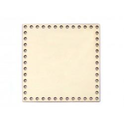 Fond de sac rond ivoire en simili cuir pré-percé / rond ou carré  / base de sac à coudre, création de sacs