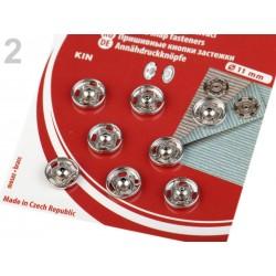 Boutons pressions à coudre / argent, noir, or, bronze / de 11 à 21 mm