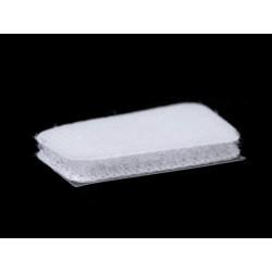 40 pastilles velcro 15x25mm /blanc, noir / Scratch velcro, pastilles auto-agrippantes, pastilles scratch