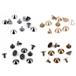 10 rivets décoratifs à visser / pieds de sac / or, argent / studs clous carrés pour customisation, décoration rock punk