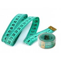 2 métres ruban dans boite plastique ronde / outil couturière, métre-ruban, système pour mesurer