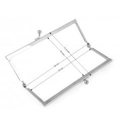 Cadre en métal argent pour sac pochette / anse de sac à clipser, cadre pour pochette