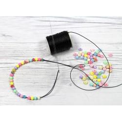 Longue aiguille à perler 100 mm à large chas  / aiguille pour enfiler des perles