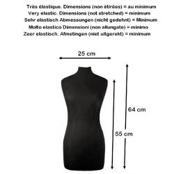 Housse mannequin lycra / noir, blanc, ivoire / Housse pour buste de mannequin / couverture de protection mannequin couturière