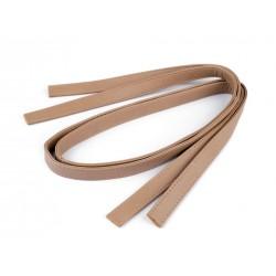 Bandoulière anse de sac en simili cuir 120 cm / Noir, beige / anses de sac en cuir, lanière de sac, sangle cuir