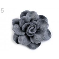 2 fleurs en laine feutrée 4 cm / Nombreux coloris / Fleurs en feutre, décoration bonnet et chapeau, fleur en tissu