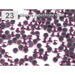 10 g strass hotfix 3 mm thermocollant a facettes AMETHYSTE clair