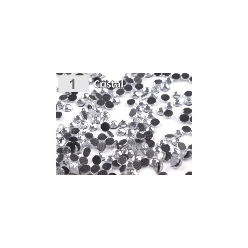 10 g strass hotfix 6 mm thermocollant a facettes CRISTAL transparent