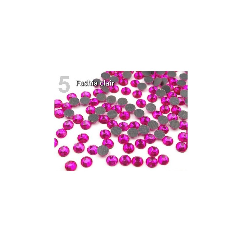 10 g strass hotfix 6 mm thermocollant a facettes ROSE FUSHIA