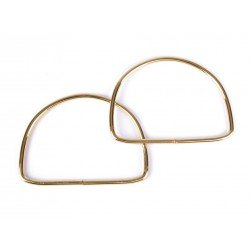 2 Anses de sac métal 10x13cm / argent, or / création de sacs porté main cabas pochette tricot
