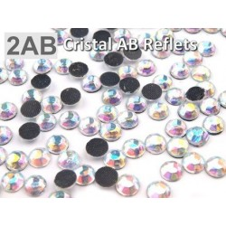 10 g strass hotfix 6 mm thermocollant a facettes CRISTAL AB