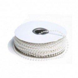 3 metres de fil de perles nacrees 4 mm blanc
