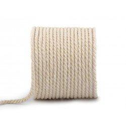 3M corde tressée en coton 5mm / Cordelette tressée, corde au mètre,corde naturelle, ficelle coton, corde brute