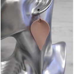 8 feuilles faux cuir avec boucle métal / Nombreux coloris / Création bijou, décoration accessoires, morceaux de cuir, découpes d