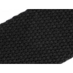 Bandoulière anse de sac textile noire avec mousquetons 113 cm / bandoulière cuir et sangle noire, sangle sac, anse sac noire