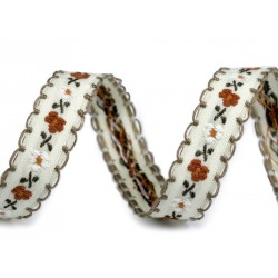 3M galon tissé à fleurs 13-17mm / ruban ethnique, ruban folklorique, ruban tissé, ruban coloré, ruban bracelets, ruban jacquard