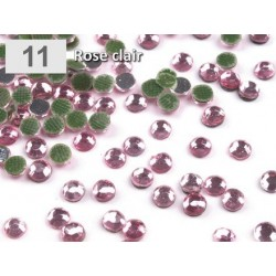 10 g strass hotfix 4 mm thermocollant a facettes rose clair