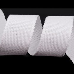 Bande 50 mm de toile aida / Blanc, ivoire
