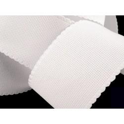 Bande 70 mm toile aida / Blanc, ivoire